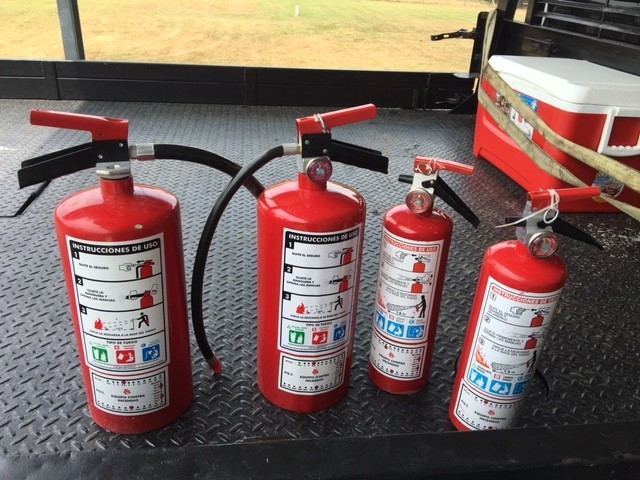 Meth found in four fire extinguishers. (Photo: Fayette County Sheriff's Office)