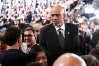 PHILADELPHIA, PA - JULY 28: Retired professional basketball player Kareem Abdul-Jabbar attends the fourth day of the Democratic National Convention at the Wells Fargo Center, July 28, 2016 in Philadelphia, Pennsylvania. Democratic presidential candidate Hillary Clinton received the number of votes needed to secure the party's nomination. An estimated 50,000 people are expected in Philadelphia, including hundreds of protesters and members of the media. The four-day Democratic National Convention kicked off July 25. (Photo by Jessica Kourkounis/Getty Images)