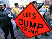 Let's Dump Trump Sign APCharles Krupa