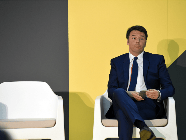 MILAN, ITALY - APRIL 13: Italian Prime Minister Matteo Renzi attends the awards ceremony of the international competition of the Salone Satellite in 2016 during 55th Salone Del Mobile at Rho Fiera on April 13, 2016 in Milan, Italy. (Photo by Pier Marco Tacca/Getty Images)