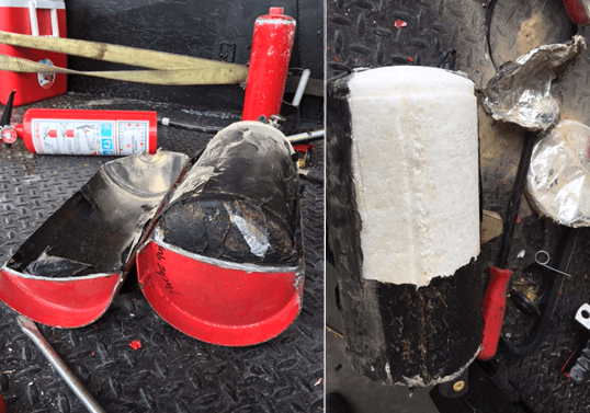 Meth found inside four fire extinguishers. (Photo: Fayette County Sheriff's Office)