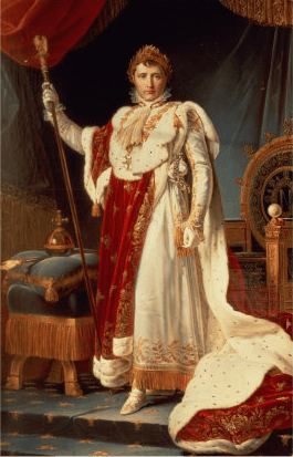 Napoleon in Coronation Robes by François Gérard, 1805, oil on canvas.