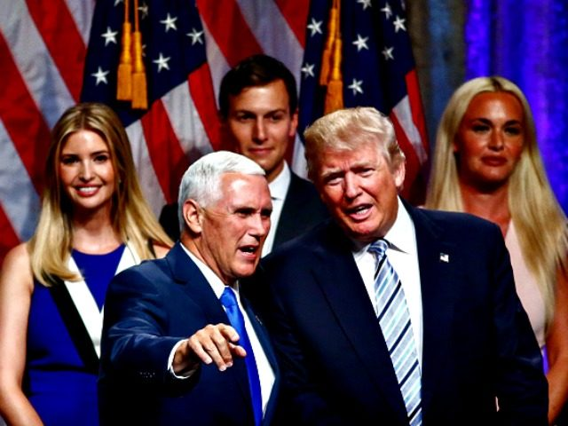 Pence, Trump, Family AFP