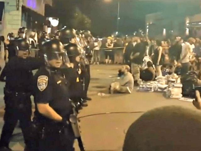 Police vs. BLM nbcnews