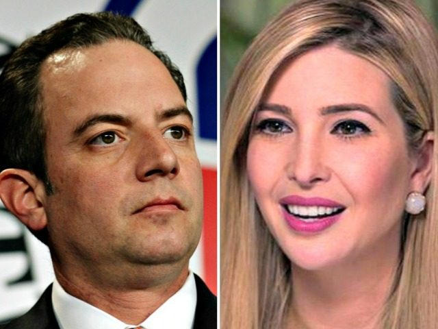 Reince Priebus and Ivanka Trump AP, CBS News