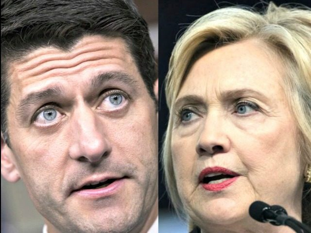 Ryan and Hillary AP Photos