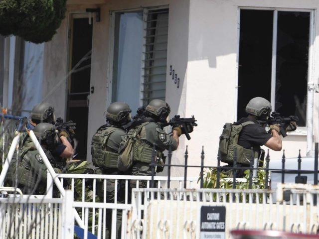 San Diego police shooting (Denis Poroy / Associated Press)