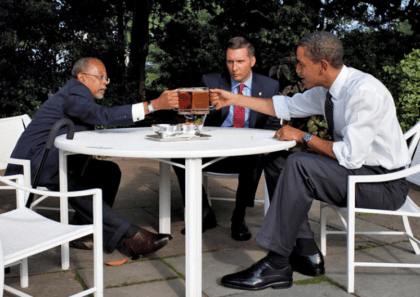 Beer summit (Pete Souza / White House)