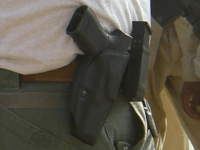 Open carry Glock (Ben Branam / Flickr / CC / Cropped)