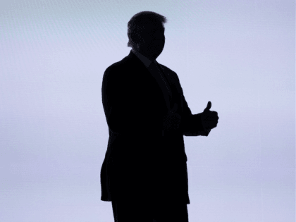 Donald Trump silhouette (Evan Vucci / Associated Press)