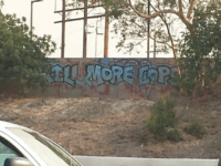 'Kill More Cops' Graffiti Mural Appears on Major L.A. Freeway