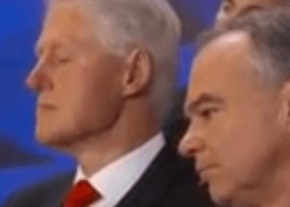 Did Bill Clinton Fall Asleep During Hillary's DNC Speech?
