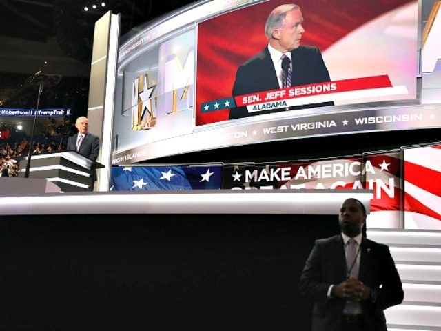 CLEVELAND, OH - JULY 18: on the first day of the Republican National Convention on July 18, 2016 at the Quicken Loans Arena in Cleveland, Ohio. An estimated 50,000 people are expected in Cleveland, including hundreds of protesters and members of the media. The four-day Republican National Convention kicks off …