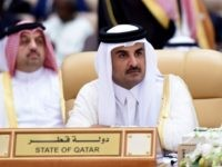 Qatar's Emir Sheikh Tamim bin Hamad al-Thani attends the 4th Summit of Arab States and South American countries in the Saudi capital Riyadh, on November 11, 2015. The summit aims to strengthen ties between the geographically distant but economically powerful regions. AFP PHOTO / FAYEZ NURELDINE / AFP / FAYEZ NURELDINE (Photo credit should read FAYEZ NURELDINE/AFP/Getty Images)