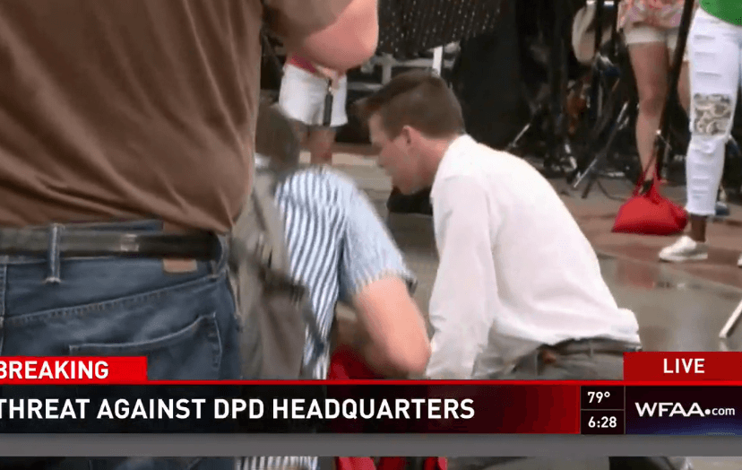 Shouting person at DPD HQ