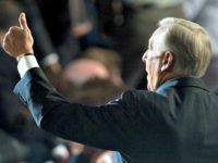 House Minority Leader Steny Hoyer, D-Md., waves to the Maryland delegation during the 2008 Democratic National Convention at the Pepsi Center in Denver, Colo., on Aug. 26, 2008.