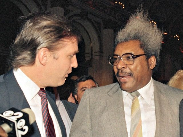 Trump and Don King AP