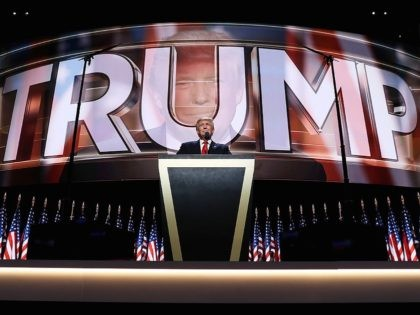 Trump on Trump on Trump at RNC (John Moore / Getty)