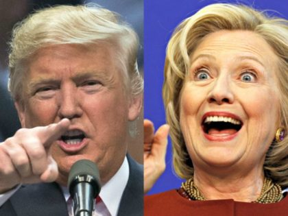 Trump points AP Hillary_Clinton waves Reuters