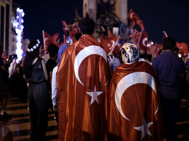 Pro-Erdogan supporters gather at Taksim square in Istanbul to support the government on July16, 2016, following a failed coup attempt. Turkish authorities said they had regained control of the country on July 16 after thwarting a coup attempt by discontented soldiers to seize power from President Recep Tayyip Erdogan that …