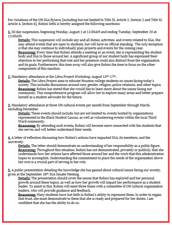 UofH SGA letter page 2