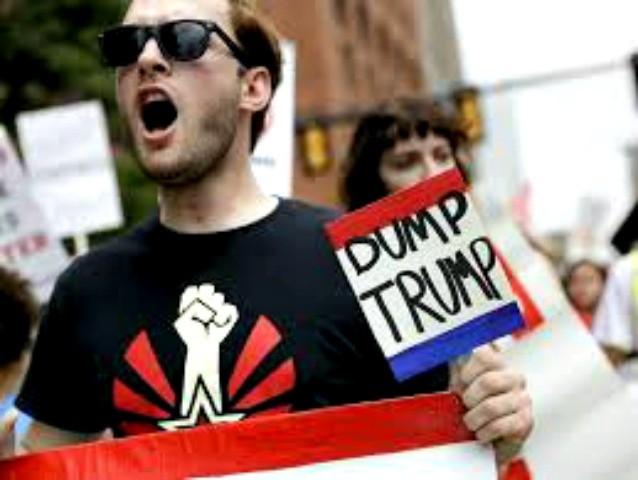 anti-trump protester AP