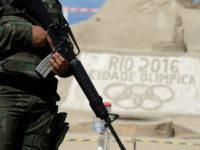 A Brazilian Army Forces soldier patrols on Copacabana beach ahead of the 2016 Rio Olympic games in Rio de Janeiro, Brazil. REUTERS/RICARDO MORAES