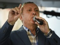 Turkish President Recep Tayyip Erdogan delivers a speech in Istanbul, Saturday, July 16, 2016. Forces loyal to Erdogan quashed a coup attempt in a night of explosions, air battles and gunfire that left some hundreds of people dead and scores of others wounded Saturday. The chaos Friday night and Saturday came amid a period of political turmoil in Turkey _ a NATO member and key Western ally in the fight against the Islamic State group _ that critics blame on Erdogan's increasingly authoritarian rule. (AP Photo)