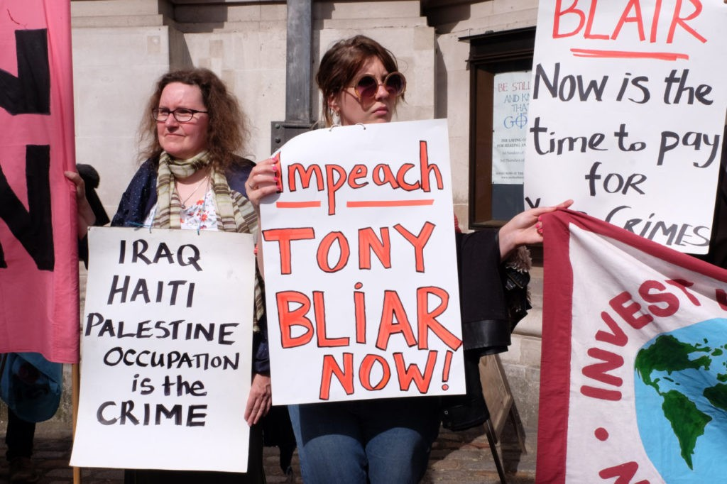 Chilcot enquiry protest