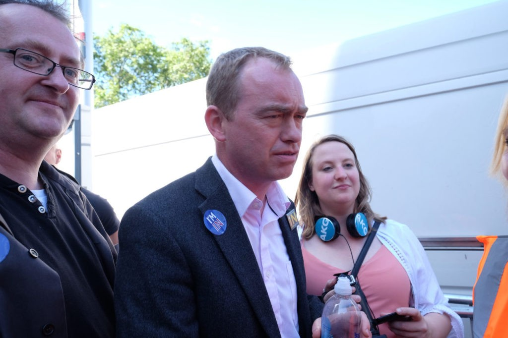 "Liberal ""Democrat"" leader Tim Farron joins the march against democracy"