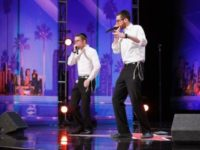 Ilan Swartz-Brownstein (left) and Josh Leviton perform on 'America's Got Talent'. (photo credit:COURTESY NBC)