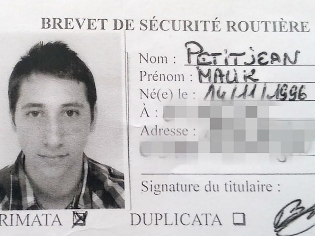 A picture obtained on July 27, 2016 shows Abdel Malik Petitjean, 19, one the two men who stormed into a church on July 26 in the northern French town of Saint-Etienne-du-Rouvray during morning mass and cut the throat of a 86-year-old priest at the altar.
