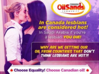 SJWs Force Canadian Oil Group To Apologize For Saudi-Mocking 'Hot Lesbians' Ad