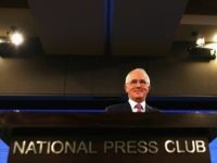 Prime Minister Malcolm Turnbull delivers his election address to the National Press Club on June 30, 2016 in Canberra, Australia. The Prime Minister's speech focused heavily on the economy, with Malcolm Turnbull committing to stick to the Government's economic plan, grow the economy and create jobs should he win the …