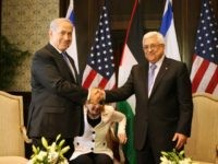 In this handout image supplied by the Office of the Palestinian President, President Mahmoud Abbas and Israeli Prime Minister Benjamin Netanyahu attend a meeting as leaders gather for the second round of Israeli/Palestinian peace talks, on September 14, 2010 in Sharm El-Sheikh, Egypt.
