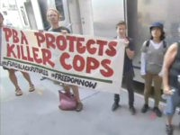 Anti-Cop Protesters Block Manhattan Police Union Headquarters