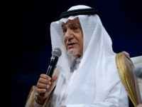 NEW YORK, NY - OCTOBER 02: Founder and trustee of the King Faisal Foundation as well as the Chairman of the King Faisal Centre for Research and Islamic Studies HRH Prince Turki Al-Faisal speaks on stage during the 2015 Concordia Summit at Grand Hyatt New York on October 2, 2015 …