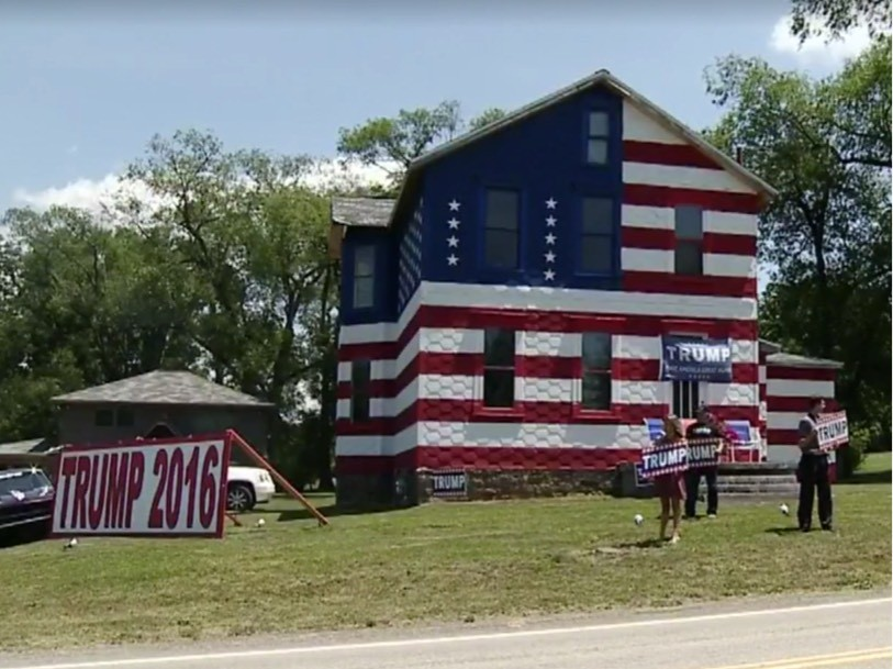 Trump Supporters Turned House Into American Flag Breitbart