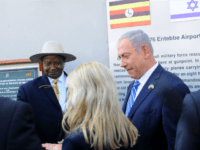 Ugandan President Yoweri Museveni and Israeli Prime Minister Benjamin Netanyahu attend an event to mark the 40th anniversary of the 1976 hostage rescue in Entebbe on July 4, 2016. Speaking in Entebbe, close to the site of the 1976 airport raid in which over 100 hostages were released, Netanyahu said …