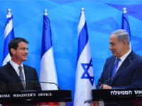 In this handout from the Israeli GPO, Israeli Prime Minister Benjamin Netanyahu meets with French Prime Minister Manuel Valls on May 23, 2016 in Jerusalem, Israel. The French Prime Minister is visiting Israel in a bid to restart Israeli-Palestinian peace efforts. He is scheduled to travel to Ramallah on Tuesday …