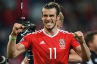 Wales forward Gareth Bale celebrates after the Euro 2016 quarter-final football match between Wales and Belgium, on July 1, 2016