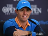 Northern Ireland's Rory McIlroy speaks to members of the media at a press conference ahead of the 2016 British Open Golf Championship at Royal Troon in Scotland