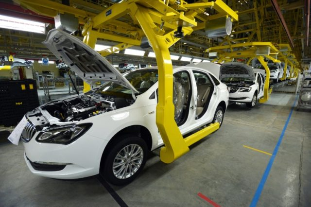 General Motors Buick cars are assembled at a car plant in Wuhan, China