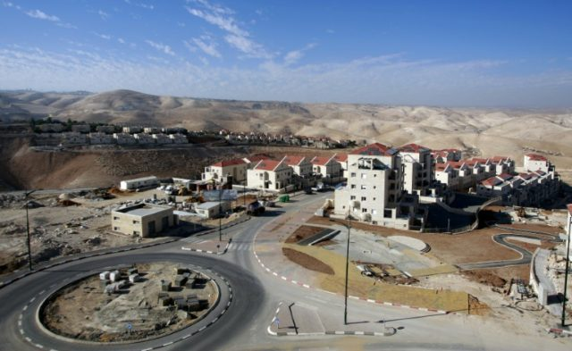 Part of the Jewish settlement of Maale Adumim, east of Jerusalem, pictured on November 11, 2009