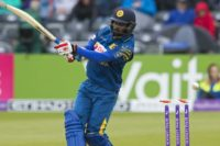 Sri Lanka's Upul Tharanga looses his wicket for 40 runs off the bowling of England's Chris Woakes during play in the third one day international match in Bristol, on June 26, 2016