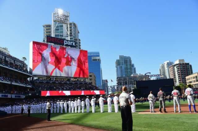 The Tenors, a quartet prominent in Canada who perform both operatic and pop fare, sang the Canadian national anthem in San Diego before Major League Baseball's annual inter-league face-off