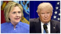 Hillary Clinton (L) and Donald Trump will take part in their party's conventions in July, with the Republican convention being held first July 18 to 21 in Cleveland, Ohio