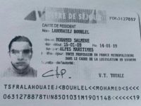 A reproduction of the residence permit of Mohamed Lahouaiej-Bouhlel, the man who rammed his truck into a crowd celebrating Bastille Day in Nice on July 14