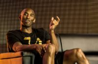 Former NBA basketball player Kobe Bryant, pictured on June 25, 2016, has cancelled his trip to a streetball tournament in Paris in the wake of security fears following the Nice massacre