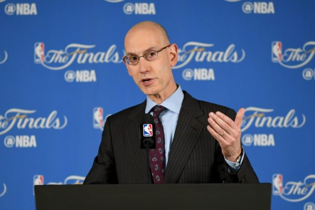 NBA Commissioner Adam Silver addresses the media before Game 1 of the 2016 NBA Finals at ORACLE Arena on June 2, 2016 in Oakland, California
